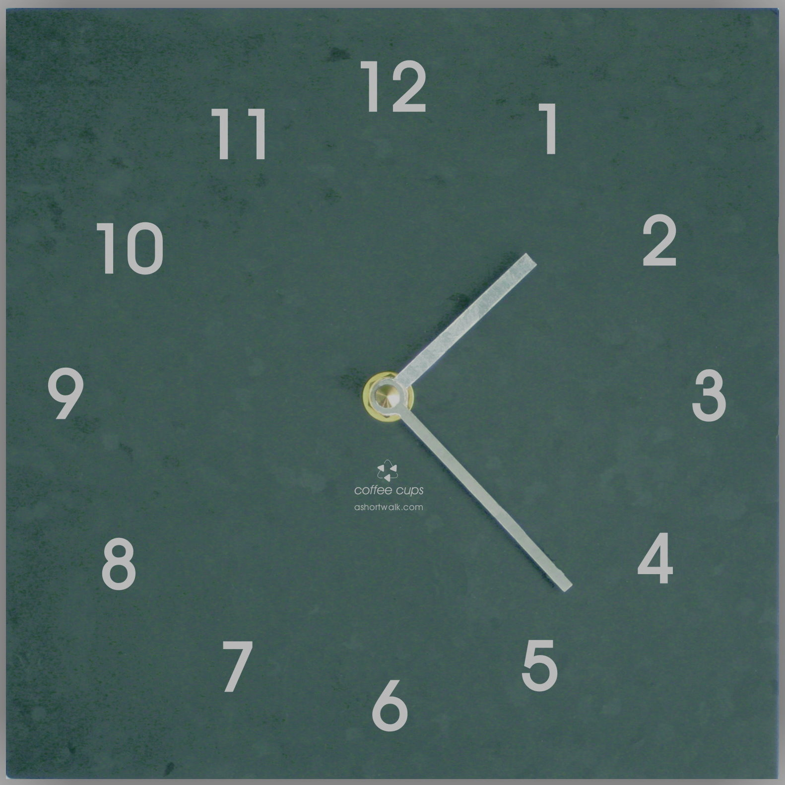 Clock made from recycled plastic cups Go Green Online Shop